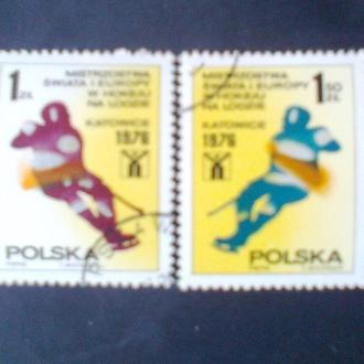 Польша 1976г  Чемпионат Европы по хокею