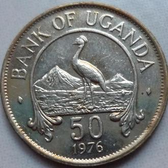 Уганда 50 центов 1976 фауна