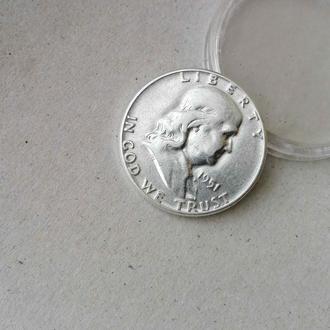 США пол доллара (50 центов) 1951 год  Франклин серебро нечастая сохран