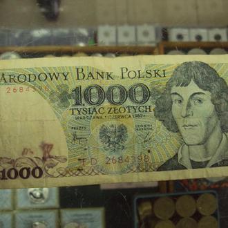 банкнота 1000 злотых 1982 польша №5