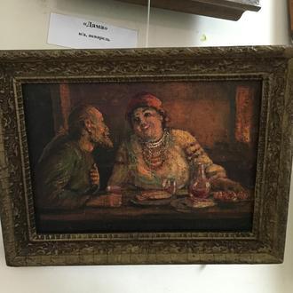"""Картина """"В трактире"""", художник Щербаков, Россия."""