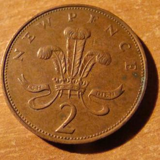 Великобритания 2 пенни 1971