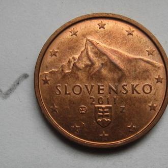 СЛОВАКИЯ 2 евроцента 2011 года.