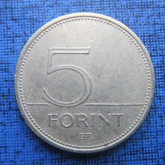 Монета 5 форинтов Венгрия 1995 фауна птица