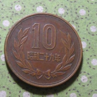 Япония монета 10 !