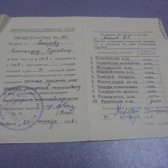 свидетельство мо ссср 1968  №462