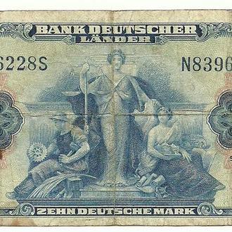 Западная Германия (ФРГ) 10 марок 1949г.