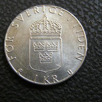 1 крона Швеция 1983 г