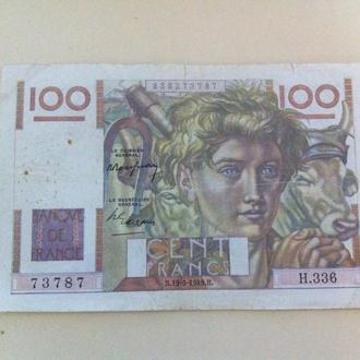 100 франков  1949 года  Франция