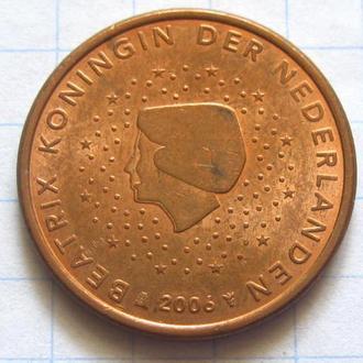 Нидерланды_ 5 евро центов 2006 года оригинал