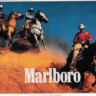 Календарик 1997 США, сигареты Marlboro, лошади
