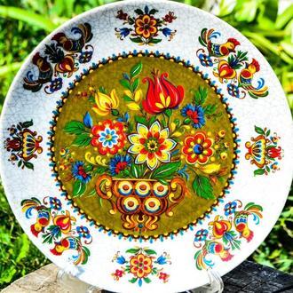 Очаровательная коллекционная тарелка! Kurt Hammer! Германия!