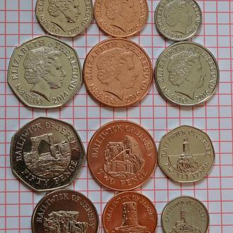 Джерси, 6 монет 2012 - 2016 год