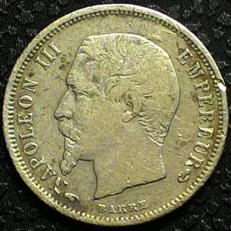 Франция 50 сантимов 1857 год СЕРЕБРО!! РЕДКАЯ!!!