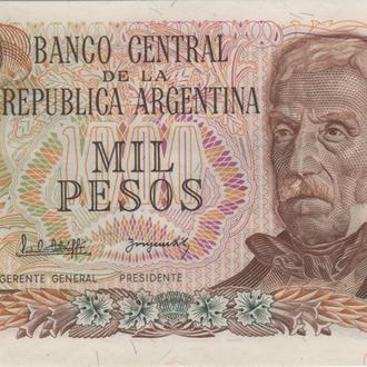 Аргентина 1000 песо 1977г. в UNC из пачки