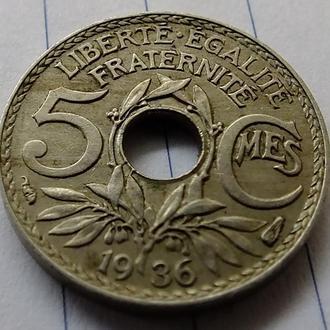 5 сантимов 1936 № 9