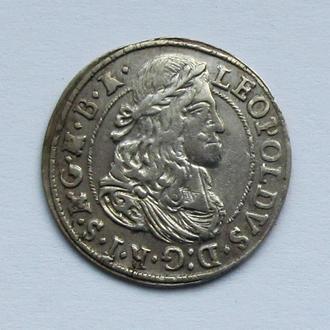 3 крейцера 1674г. Леопольд I Габсбург , Тироль