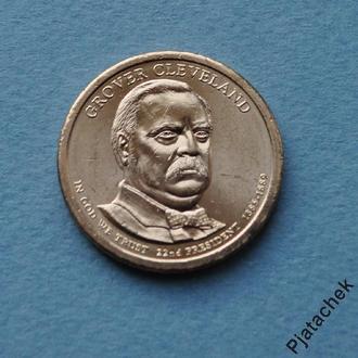 1 доллар Гровер Кливленд 22 -й президент США 2012 г