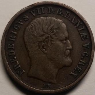 ДАНИЯ 1 скилинг 1853 год