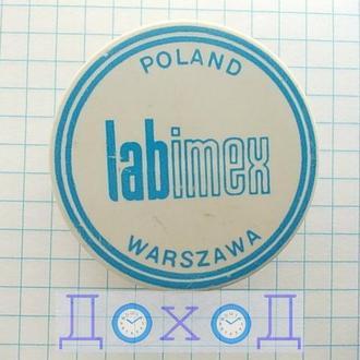 Значок Poland Warszawa Labimex Польша Варшава Лабимекс пластмасс