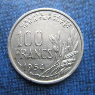 монета 100 франков Франция 1954 В