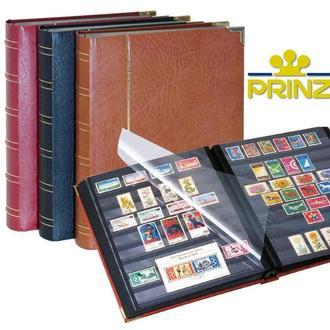 Альбом для марок Prinz Royal 60 страниц - натуральная кожа