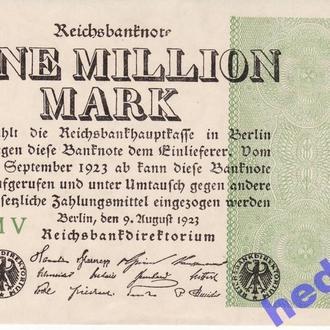 AUNC 1000000 марок Германия 1923  Рick102b