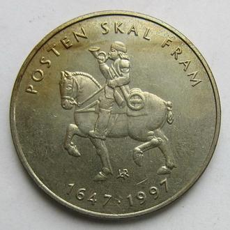 Норвегия 5 крон 1997 (KM#461) *350лет Почтовая Служба Норвегии*