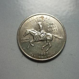 США 25 центов 1999 Д Делавер
