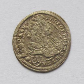 1 крейцер 1698г. Леопольд I Габсбург, Тироль