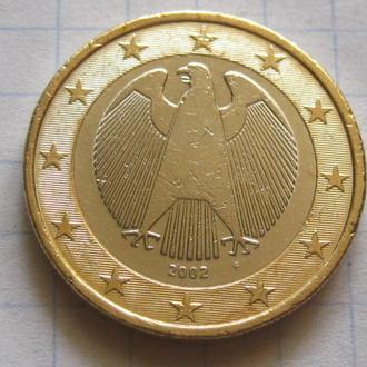 Германия_ 1 евро 2002  F оригинал