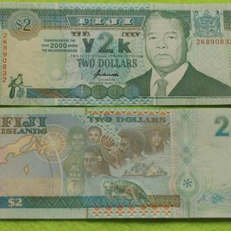 Fiji / Фиджи - 2 dollars UNC