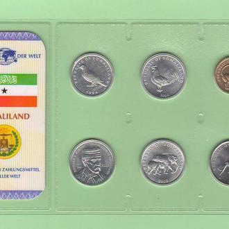 Набор монет СОМАЛИЛЕНД блистер запайка пластик