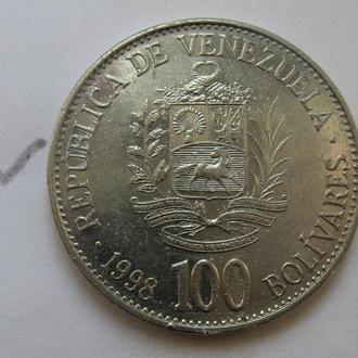 ВЕНЕСУЭЛА. 100 боливаров 1998 г.