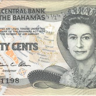 Багамы 1/2 доллара 1974( 1984)г. в  UNC из пачки
