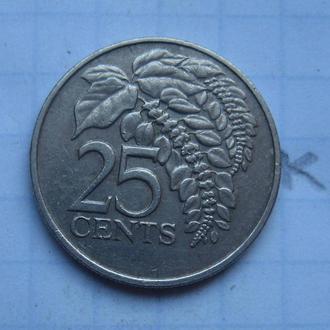 ТРИНИДАД и ТОБАГО, 25 центов 1981 года.