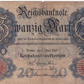 ГЕРМАНИЯ  20 марок 1907 год