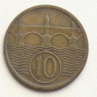 10 Гелерів 1925 р Чехословаччина 10 Геллеров 1925 г Чехословакия