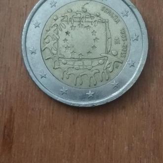 2 евро 1983-2015 Испания