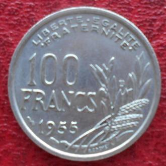 Франция 100 франков 1955 год. Без отметки монетного двора.