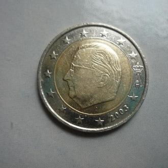 Бельгия 2 евро 2003 биметалл