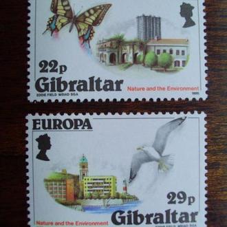 Гибралтар.1986г. Фауна. Бабочки. Птицы. Европа-СЕРТ. Полная серия. MNH