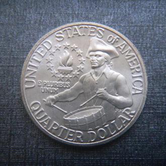 США 25 центов 1976 S UNC Серебро
