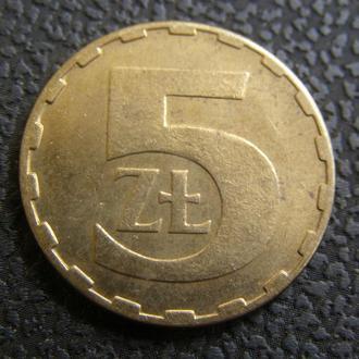 5 злотых 1986г  Польша