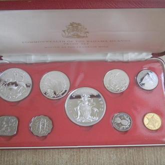 Багамы банковский набор 1972 Серебро ПРУФ