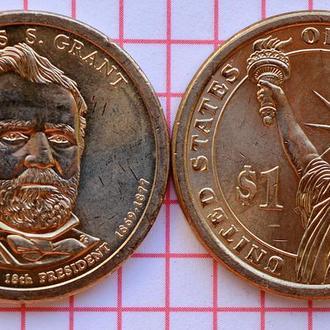 1 доллар 18-й президент США Улисс Грант 2011 г
