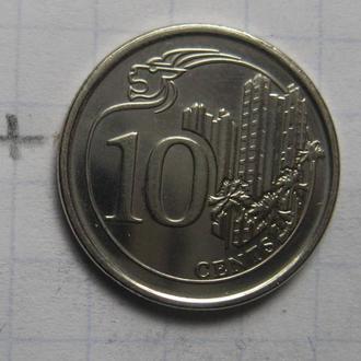 СИНГАПУР, 10 центов 2014 г. (состояние!).