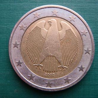 Германия 2 евро 2002 J