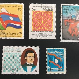Почтовые марки Лаос 29