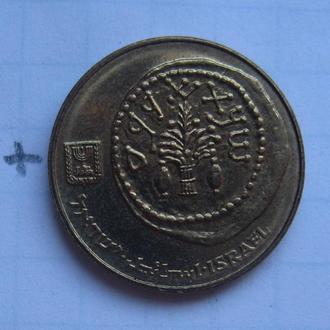 ИЗРАИЛЬ, 5 агорот 1985 года (античная монета).